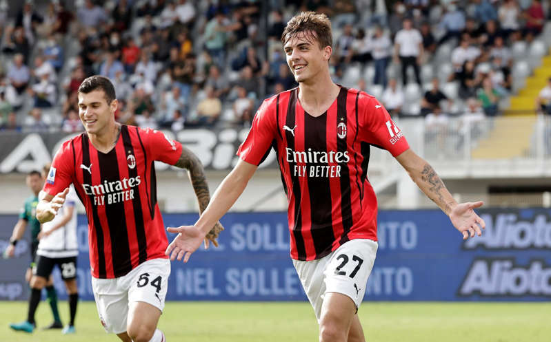 Daniel Maldini Anota con el AC Milan